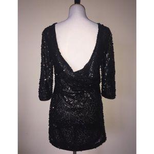 H&M Sequin Backless Mini Dress
